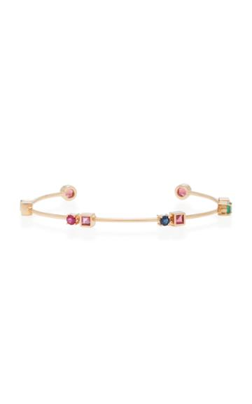 Carolina Neves X Julls 18k Gold Multi-stone Rose Colors Bracelet