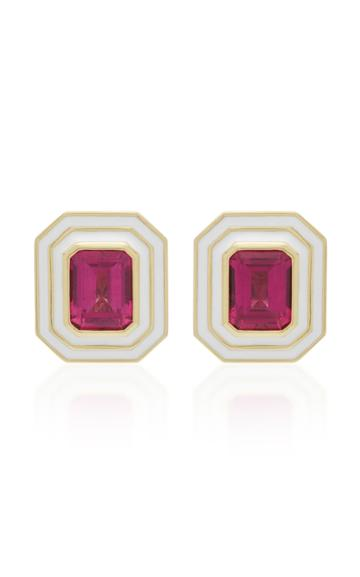 Andrew Glassford Museum Series Pink Tourmaline 18k Yellow Gold Earring