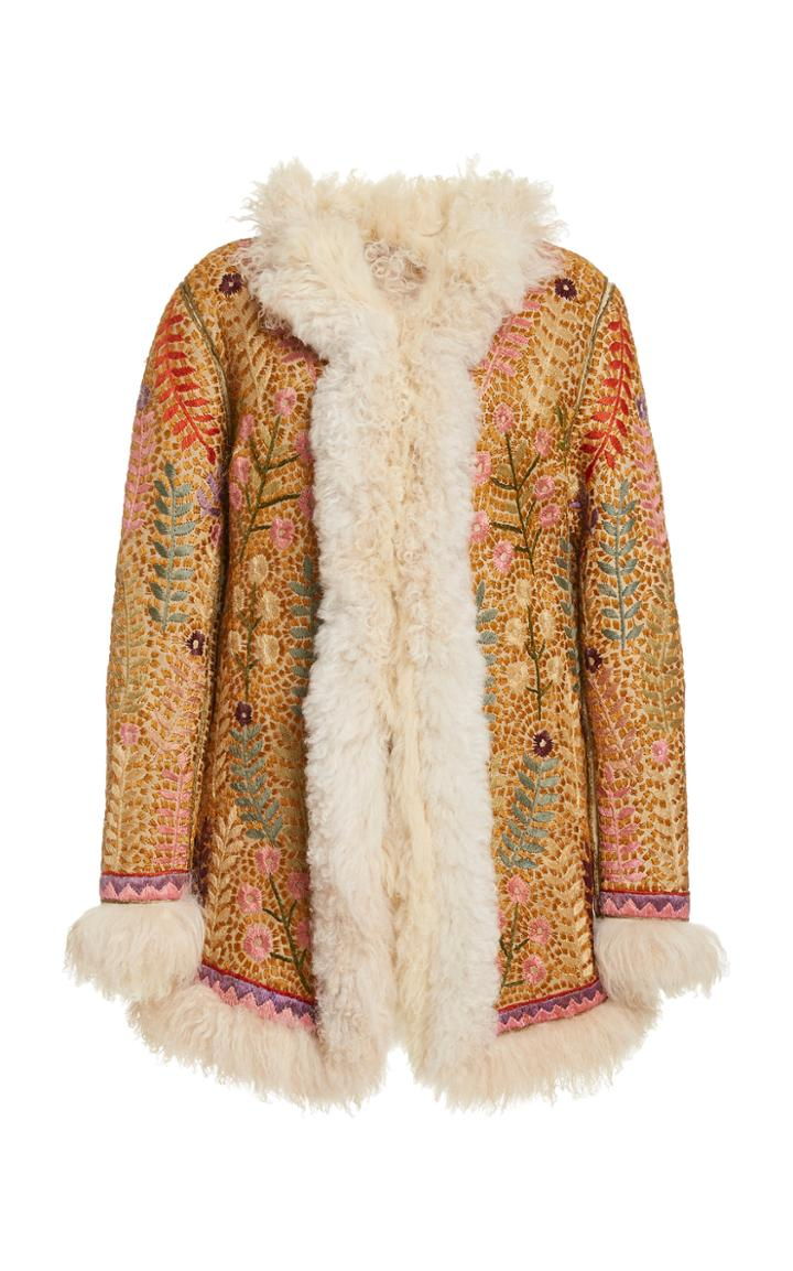 Moda Operandi Zimmermann Ladybeetle Shearling Jacket