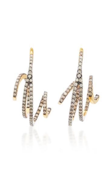 Kavant & Sharart Wave 18k Gold Diamond Earrings