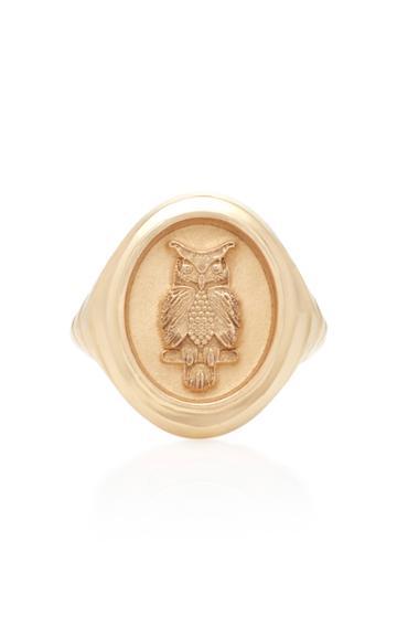 Retrouvai Owl 14k Gold Ring