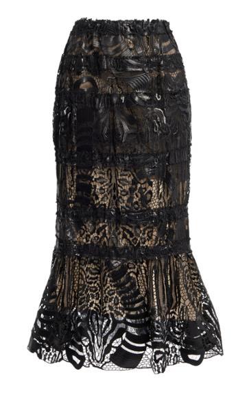 Moda Operandi Tom Ford Lacquered Macram Midi Skirt