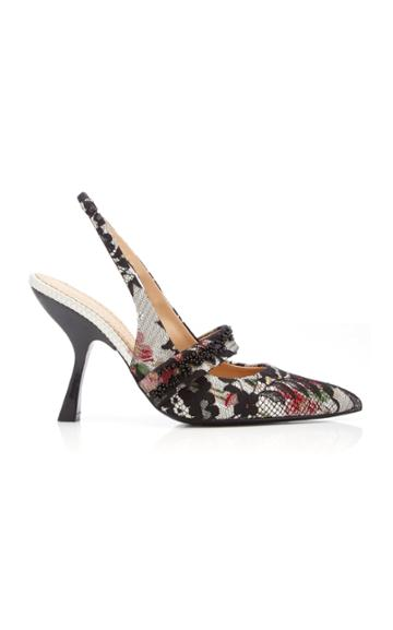 Brock Collection Lace Floral Slingbacks