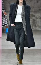 Tibi Felted Wool Structured Coat