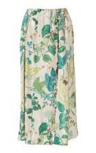 Agnona Botanical Printed Sequin Skirt