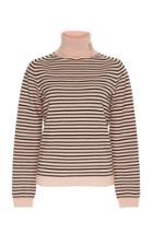 Rochas Turtleneck Striped Knit