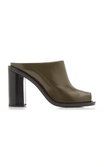 Marina Moscone Open-toe Leather Clogs