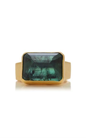 Christina Alexiou Movable Green Tourmaline Ring