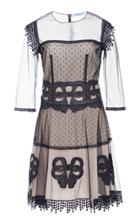 Blumarine Dotted Tulle A Line Dress