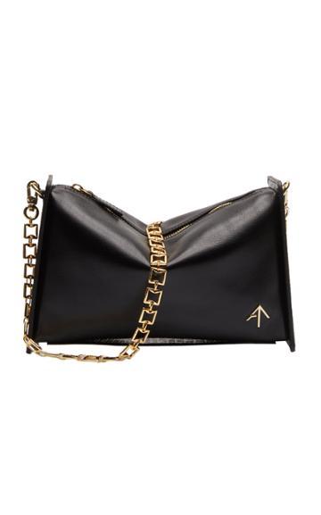 Manu Atelier Carmen Paneled Textured-leather Shoulder Bag