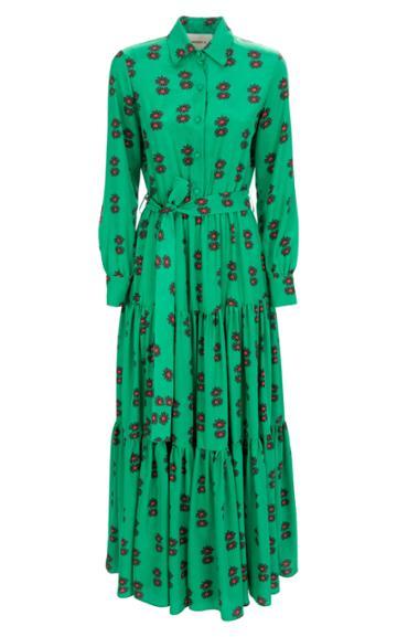 La Doublej Bellini Tiered-hem Maxi Dress