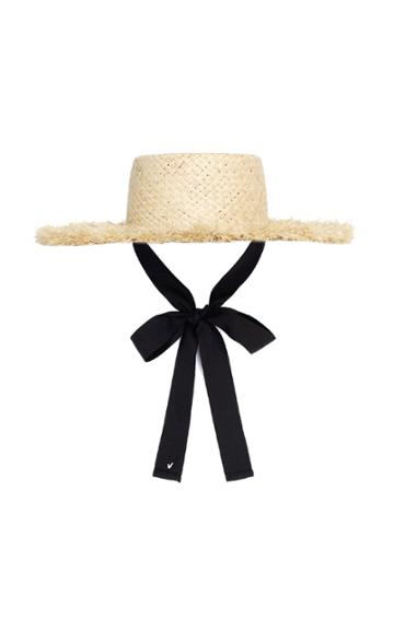 Awesome Needs Raffia Boater Hat