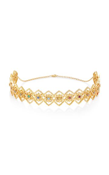 Colette Jewelry Marrakech 18k Gold And Sapphire Choker