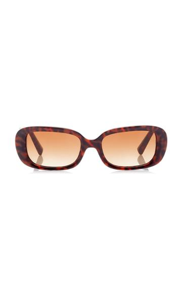 Valentino Printed Square-frame Acetate Sunglasses