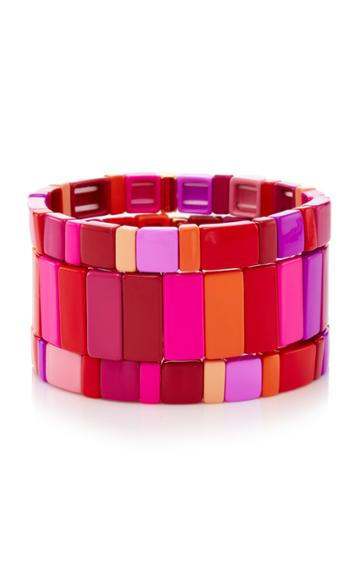 Roxanne Assoulin Set-of-three Extremely Pink Bracelets