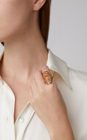 Sylvie Corbelin Marquise Palace 18k Gold Sapphire Garnet And Diamond Ring