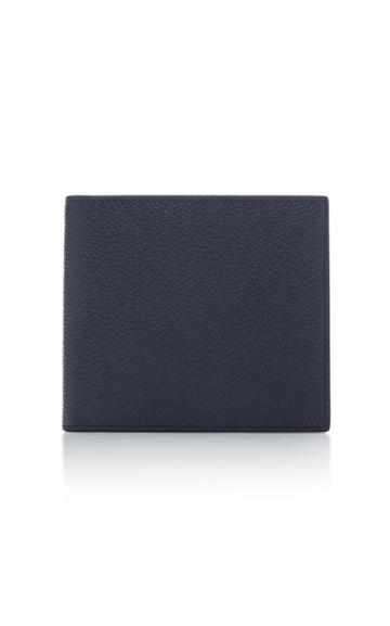 Thom Browne Bi-color Pebble-grain Leather Billfold Wallet