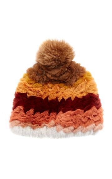 Pologeorgis Knitted Rabbit And Fox Pom-pom Hat