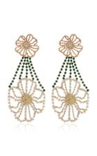 Moda Operandi Rosantica Briscola Floral Glass Crystal Drop Earrings