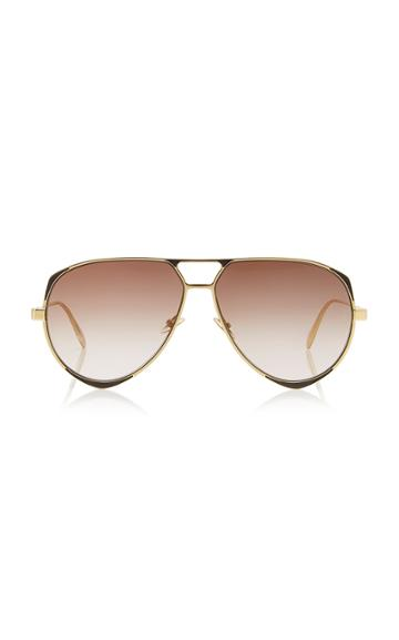 Alexander Mcqueen Sunglasses Aviator-style Metal Sunglasses