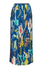 Agnona Twill Plisse Midi Skirt