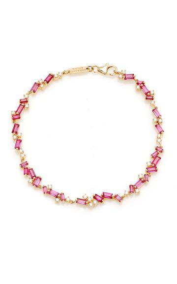 Moda Operandi Suzanne Kalan 18k Yellow Gold Ruby Mix Tennis Bracelet