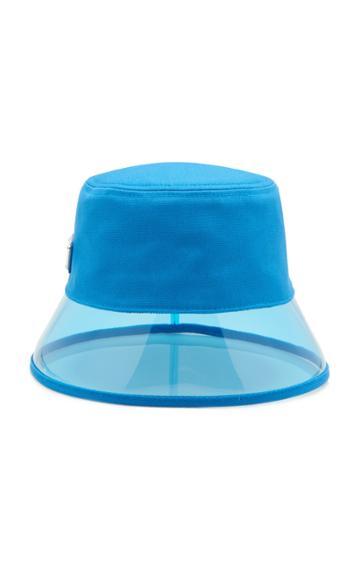 Prada Pvc And Shell Bucket Hat