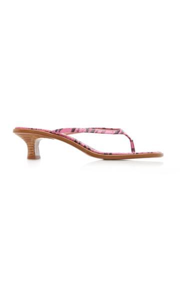 Sies Marjan Alix Lizard-effect Leather Sandals