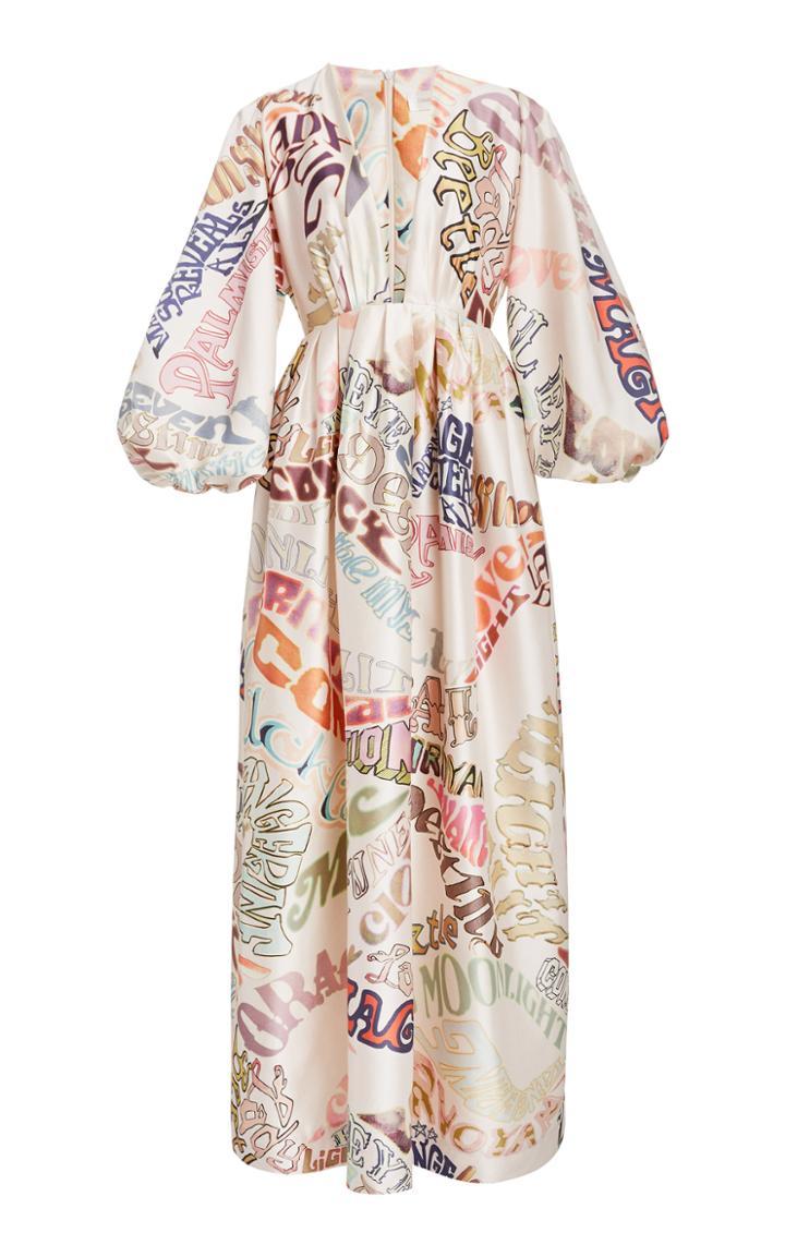 Moda Operandi Zimmermann Ladybeetle Word Midi Dress