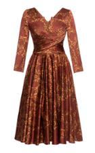 Moda Operandi Lena Hoschek Hourglass Pleated Printed Satin Midi Dress