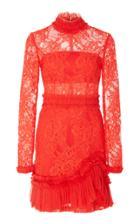 Alexis Wilhemina Lace Mock Neck Mini Dress