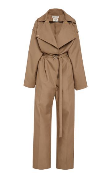 Bottega Veneta Belted Full-length Twill Jumpsuit