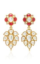 Amrapali One-of-a-kind Ruby And Crystal Gold Drop Earrings