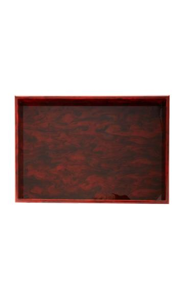 Edie Parker Marbled Glossy Acrylic Tray