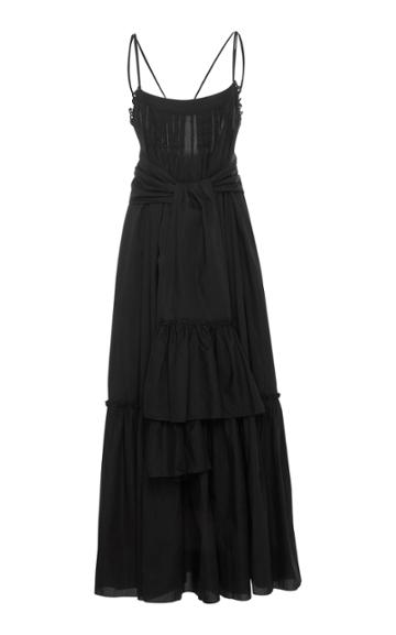 Three Graces London Ariadne Low Back Double Strap Cotton Dress