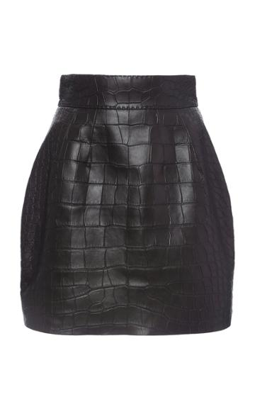Moda Operandi Dolce & Gabbana Crocodile High-rise Mini Skirt Size: 36