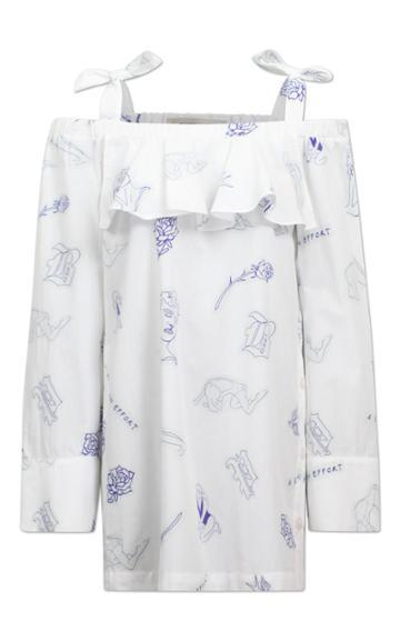 Baum Und Pferdgarten Arina Stap Dress With Off-shoulder Detail