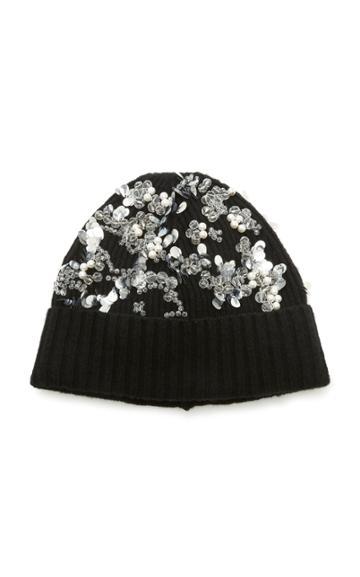 Moda Operandi Erdem Crystal Embellished Beanie