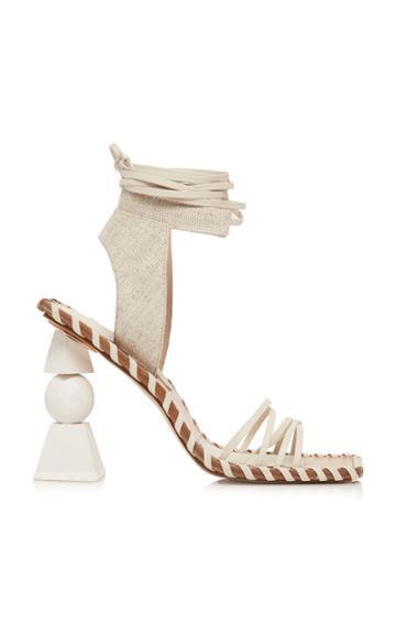 Jacquemus Les Valerie Hautes Linen And Leather Sandals