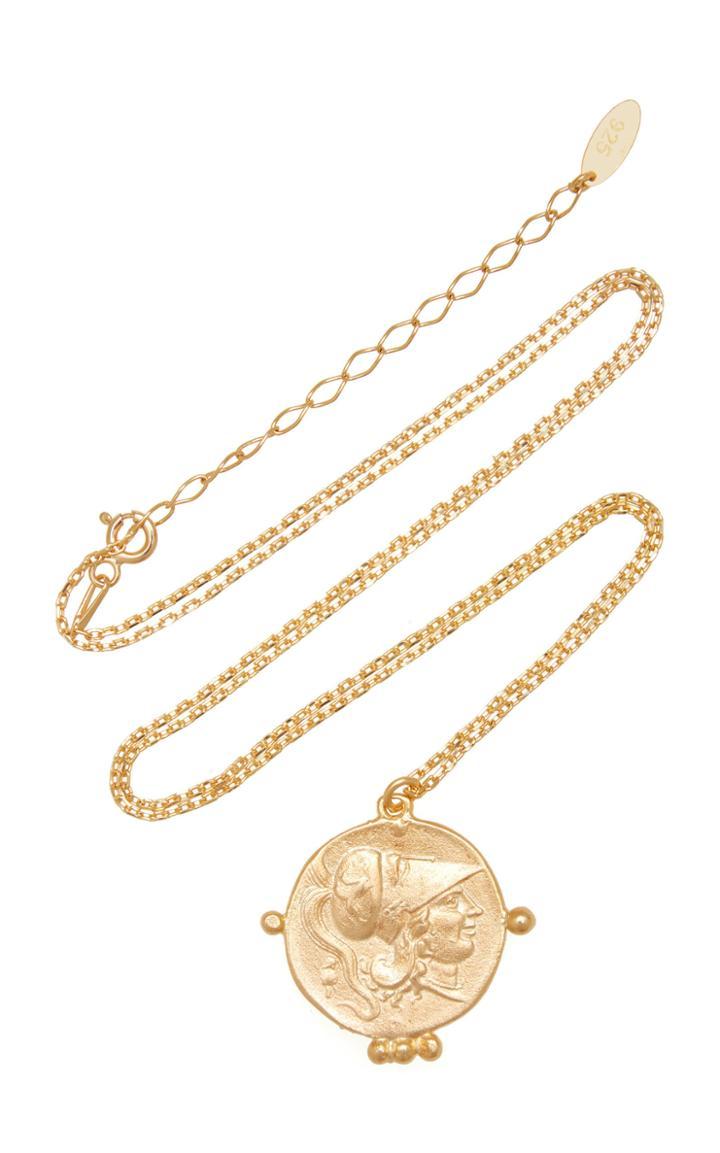 Moda Operandi Maison Irem Pegasus Coin Necklace