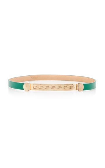Elie Saab Gold Buckle Leather Belt