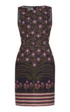 Giambattista Valli Floral Embroidered Sleeveless Mini Dress