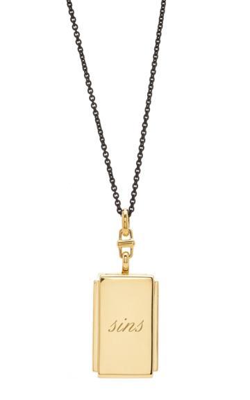 Monica Rich Kosann Custom Deco Rectangular Locket 32 Necklace