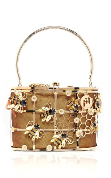 Rosantica Holli Maia Embellished Gold-tone Top Handle Bag