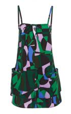 Tomas Maier Printed Tank Dress
