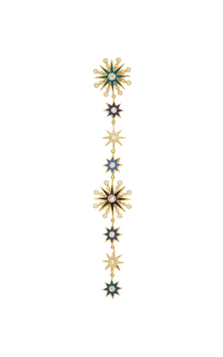 Colette Jewelry Single Multicolored Chameleon Duster Earring