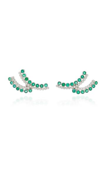 Colette Jewelry Entwined Emerald Earrings