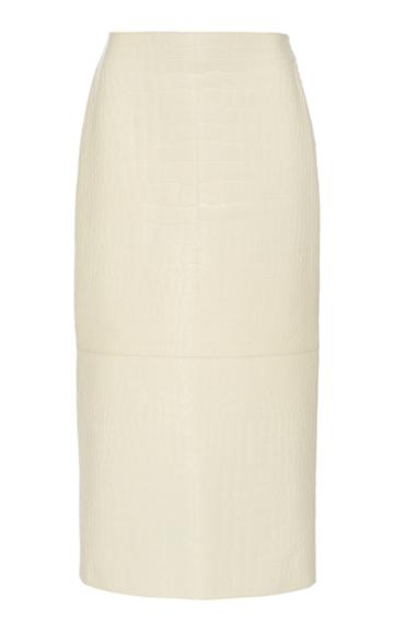 Moda Operandi The Row Jenna Crocodile Midi Skirt Size: 2