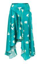Caroline Constas Flounce Silk Skirt