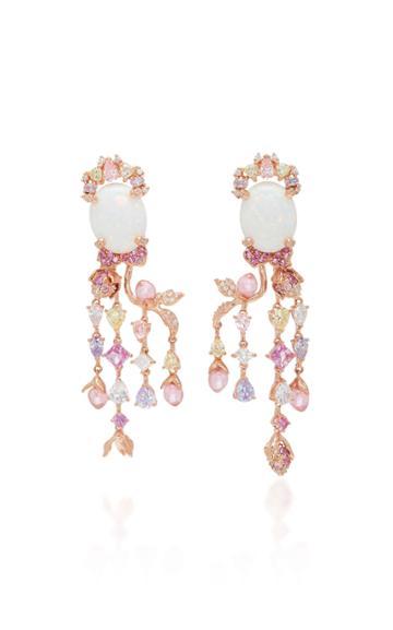 Anabela Chan Blush Passiflora Earrings